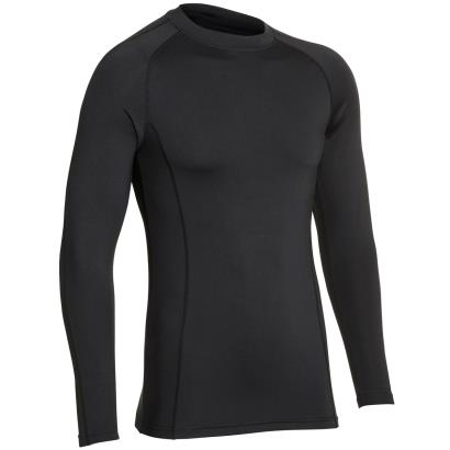 Unbranded Teamwear Baselayer Top Black Kids - Front