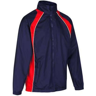 Unbranded Teamwear Elite Showerproof Jacket Navy/Red Kids - Front