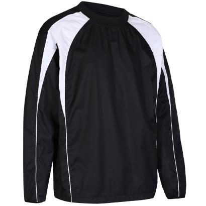 Unbranded Teamwear Pro Training Top Black/White Kids - Front