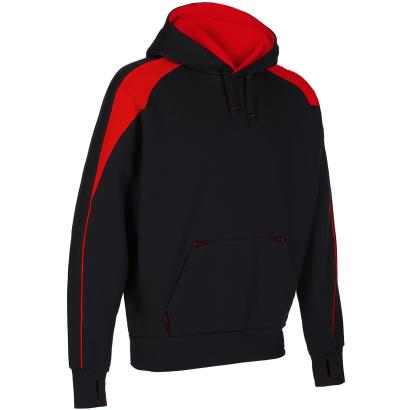 Unbranded Teamwear Premium Pro Hoody Black/Red - Front