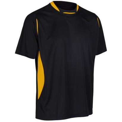 Unbranded Teamwear Pro Training Tee Black/Amber - Front