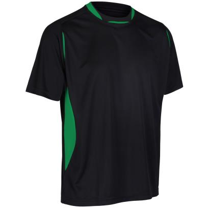 Unbranded Teamwear Pro Training Tee Black/Emerald - Front