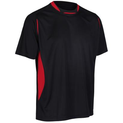 Unbranded Teamwear Pro Training Tee Black/Red - Front