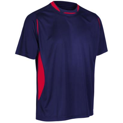 Unbranded Teamwear Pro Training Tee Navy/Red - Front