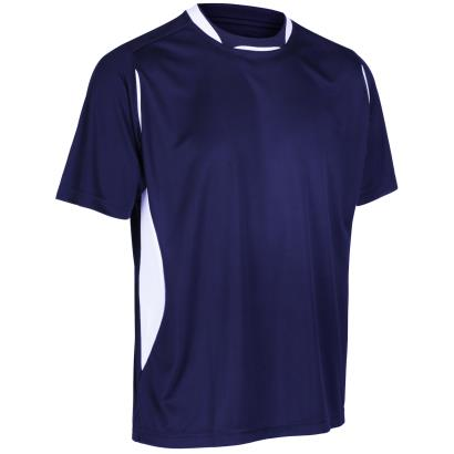 Unbranded Teamwear Pro Training Tee Navy/White - Front