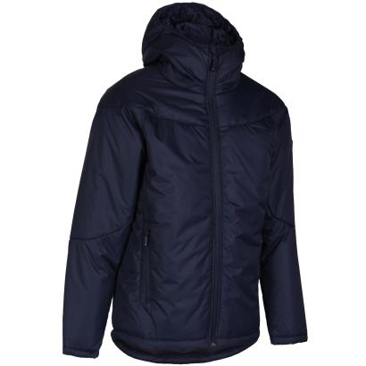 Unbranded Teamwear Contoured Thermal Jacket Navy Kids front