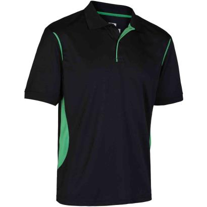 Unbranded Teamwear Premium Polo Black/Emerald Kids front