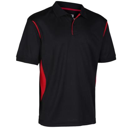 Unbranded Teamwear Premium Polo Black/Red - Front