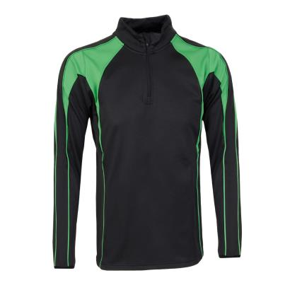 Unbranded Teamwear Pro Midlayer Black/Emerald Kids - Front