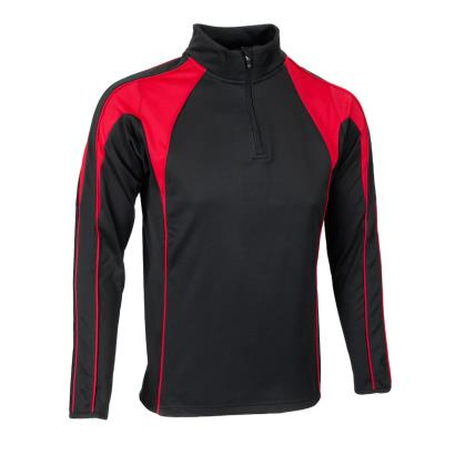 Unbranded Teamwear Pro Midlayer Black/Red Kids - Front