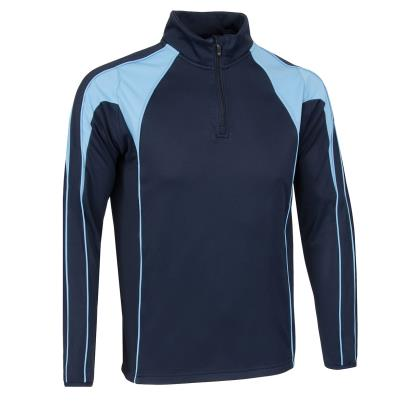 Unbranded Teamwear Pro Midlayer Navy/Sky - Front