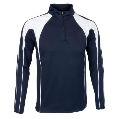 Unbranded Teamwear Pro Midlayer Navy/White - Front