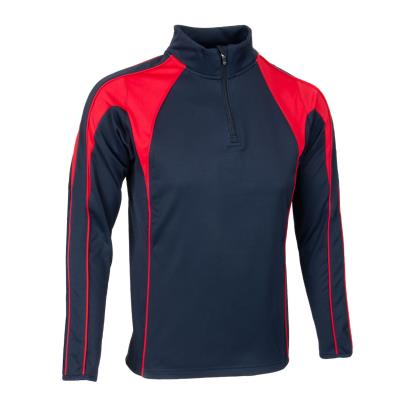 Unbranded Teamwear Pro Midlayer Navy/Red Kids - Front