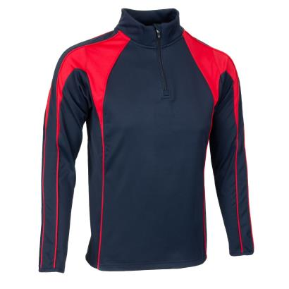 Unbranded Teamwear Pro Midlayer Navy/Red - Front