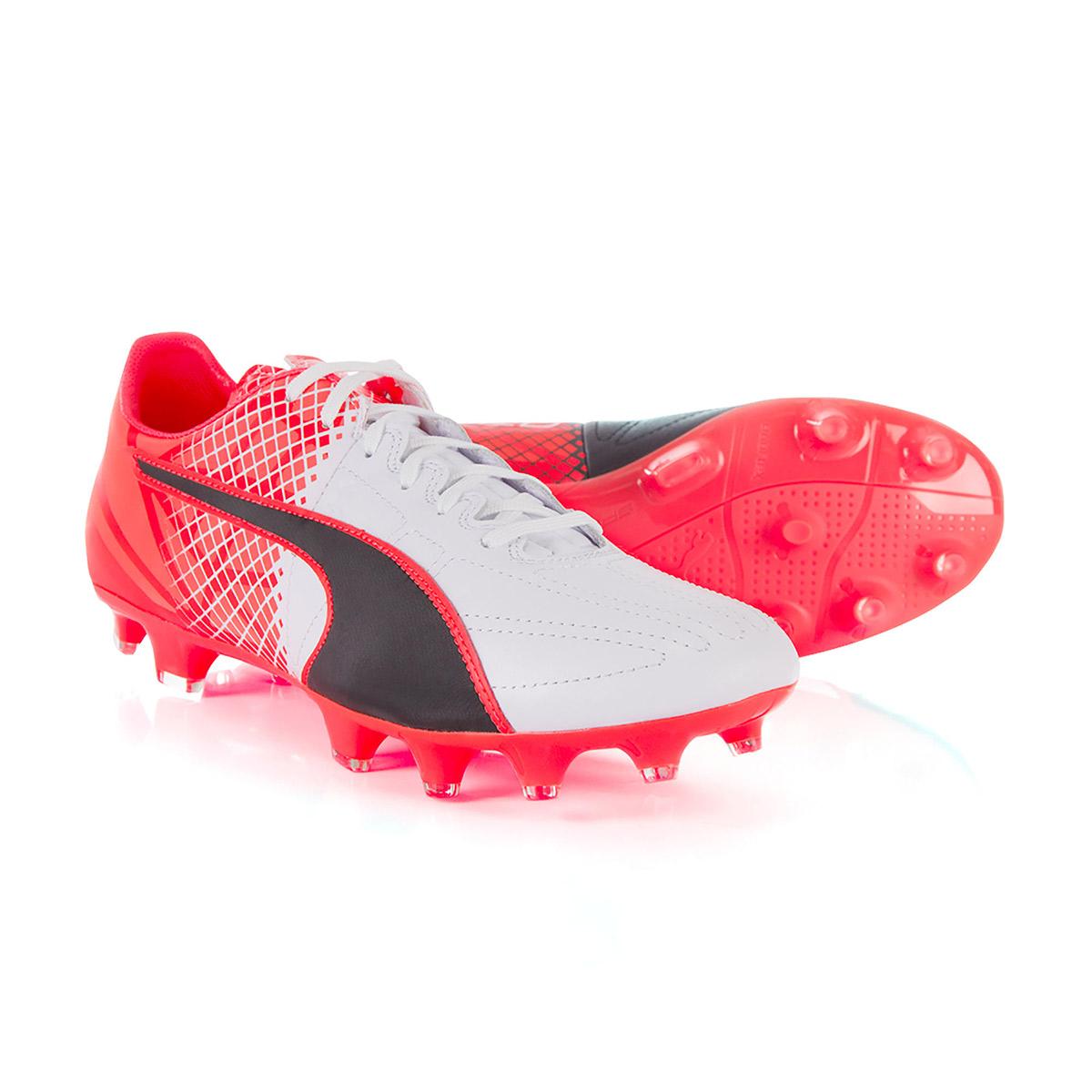 acheter en ligne b0b23 c8ede Mens Black Puma evoSPEED 3.5 Leather FG Boots