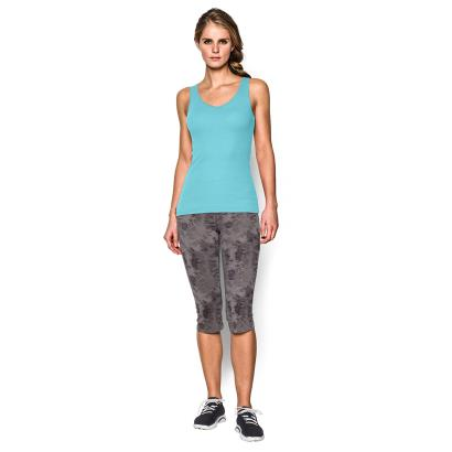 Under Armour Ladies Double Threat Tank Veneer - Model Front