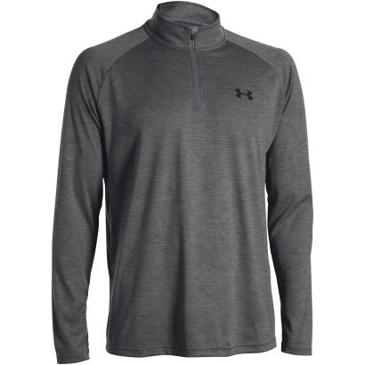 Under Armour 1/4 Zip Tech Top Carbon - Front