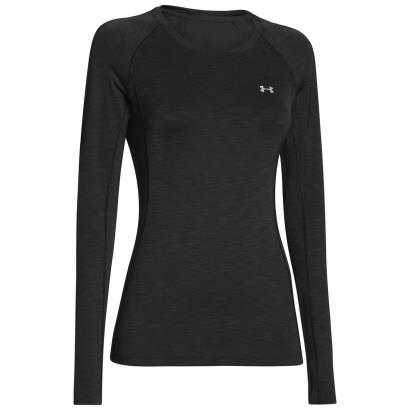 Under Armour Ladies Coldgear Armour Crew Neck L/S Black - Front 3