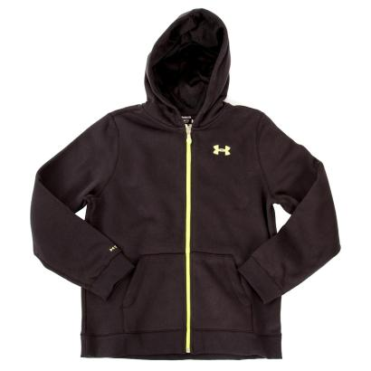 Under Armour Storm Cotton Full Zip Hoody Black Kids - Front
