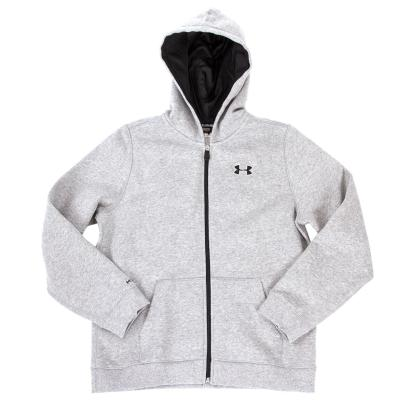 Under Armour Storm Cotton Full Zip Hoody Grey Kids - Front