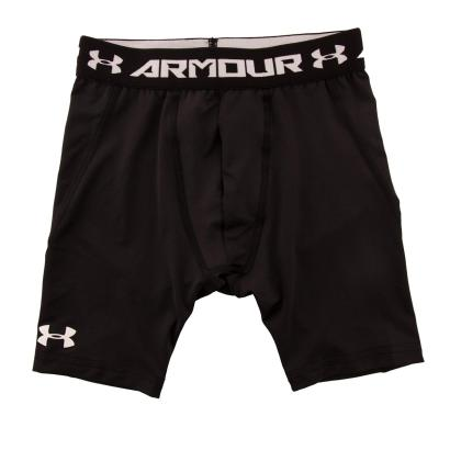 Under Armour Heatgear Armour Long Fitted Shorts Black Kids - Front