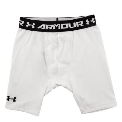Under Armour Heatgear Armour Long Fitted Shorts White Kids - Front
