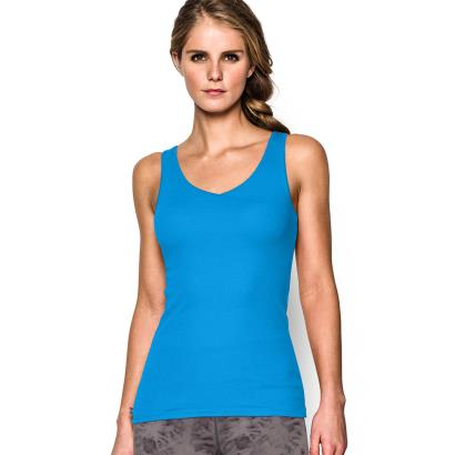 Under Armour Ladies Double Threat Tank Jazz Blue - Front 1