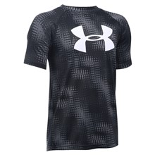 Under Armour Big Logo Printed Tech Tee Graphite Kids - Front