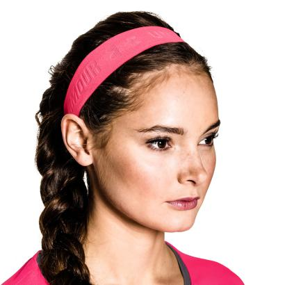 Under Armour Ladies Armourgrip Headband Pink Shock - Front