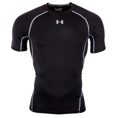 Under Armour Heatgear Armour Compression S/S Tee Black/Steel - Front