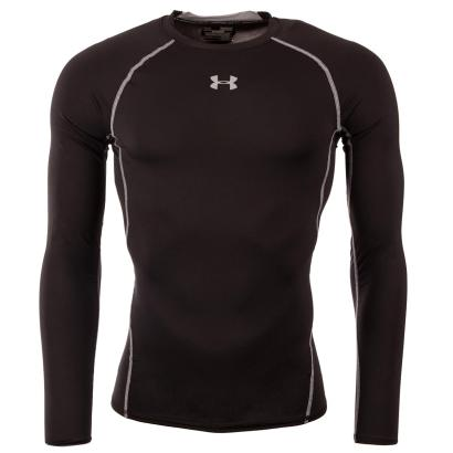 Under Armour Heatgear Armour Compression L/S Tee Black - Front