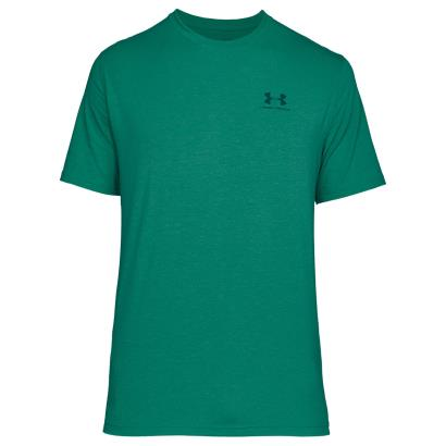 Under Armour Charged Cotton Tee Course Green - Front