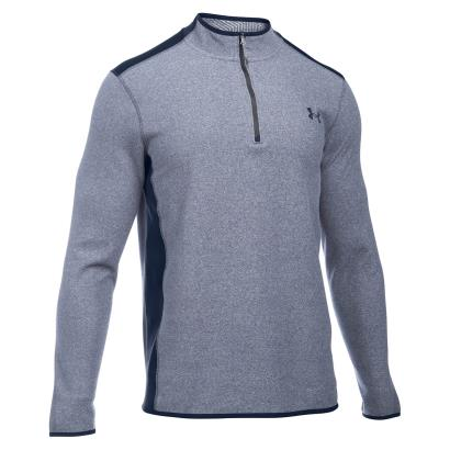 Under Armour Coldgear Infrared 1/4 Zip Fleece Navy - Front