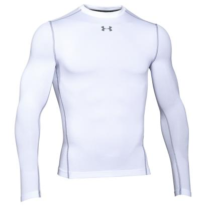 Under Armour Coldgear Armour Compression Crew L/S White - Front
