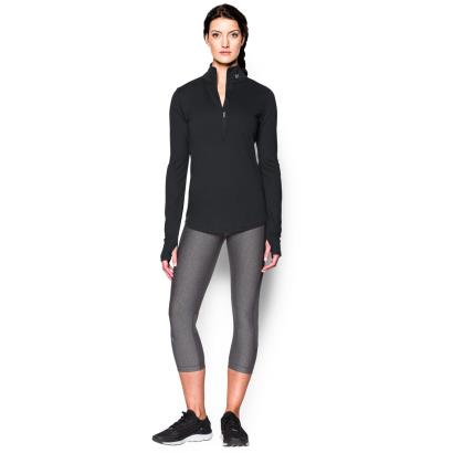Under Armour Ladies Threadborne Streaker 1/2 Zip Top Black - Model 1
