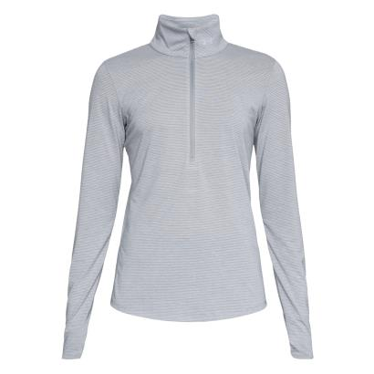 Under Armour Ladies Threadborne Streaker 1/2 Zip Top Steel - Front