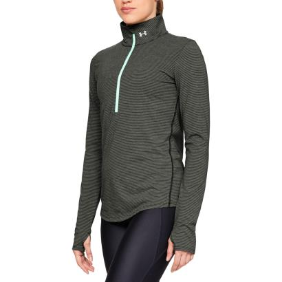 Under Armour Ladies Threadborne Streaker 1/2 Zip Top Green - Model 1