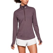 Under Armour Ladies Threadborne Streaker 1/2 Zip Top Maroon - Mo