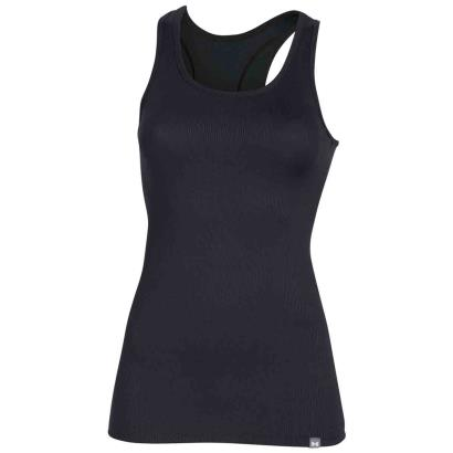 Under Armour Ladies Tech Rib Tank Black - Front