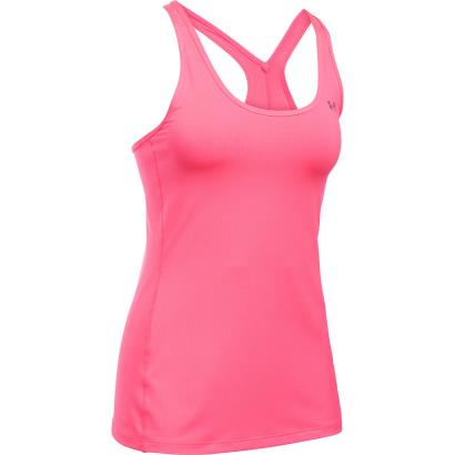 Under Armour Ladies Heatgear Armour Racer Tank Pink Shock - Front