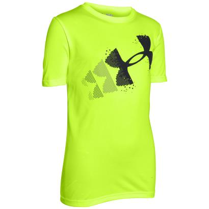 Under Armour Pixelated Logo Tee Fuel Green Kids - Front