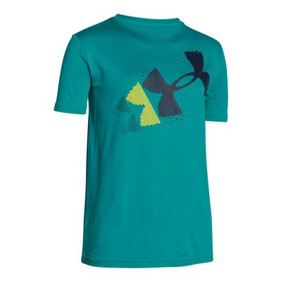 Under Armour Pixelated Logo Tee Tahitian Teal Kids - Front