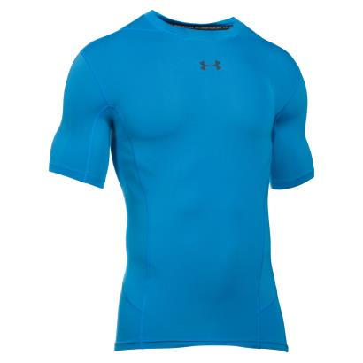 Under Armour Heatgear Supervent S/S Compression Tee Blue - Front