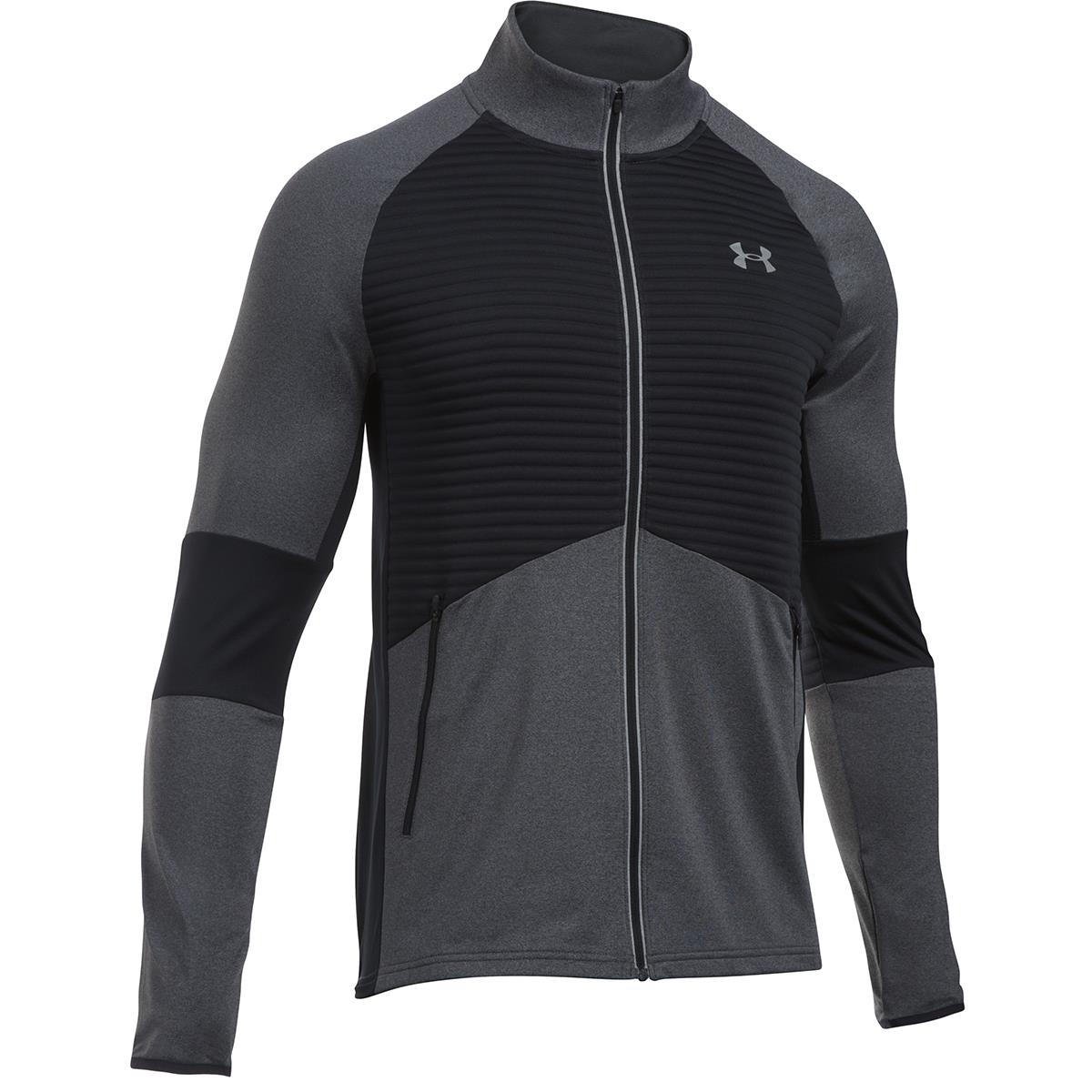 b2e3b5419a5 Under Armour No Breaks Coldgear Infrared Jacket Carbon - Front