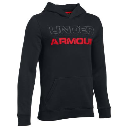 Under Armour Titan Fleece Graphic Hoody Black Kids - Front