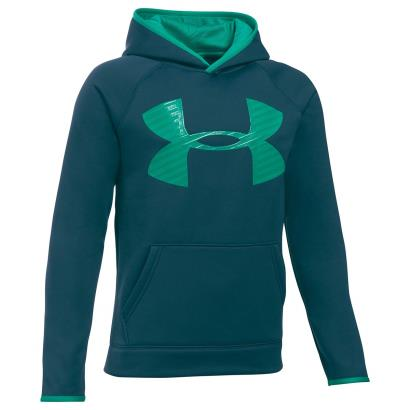 Under Armour Storm Armourfleece Highlight Hoody Nova Teal Kids - Front