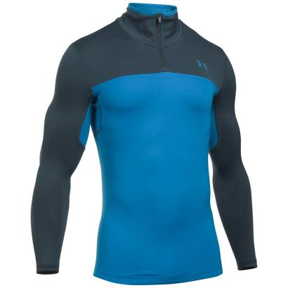 Under Armour Coldgear Infrared Storm 1/4 Zip Brilliant Blue - Front