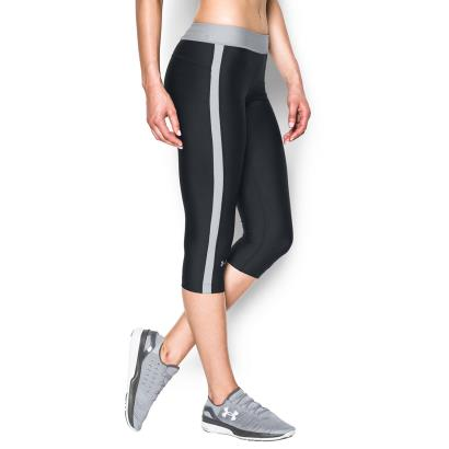 Under Armour Ladies Heatgear Armour Compression Capri Black - Detail 1