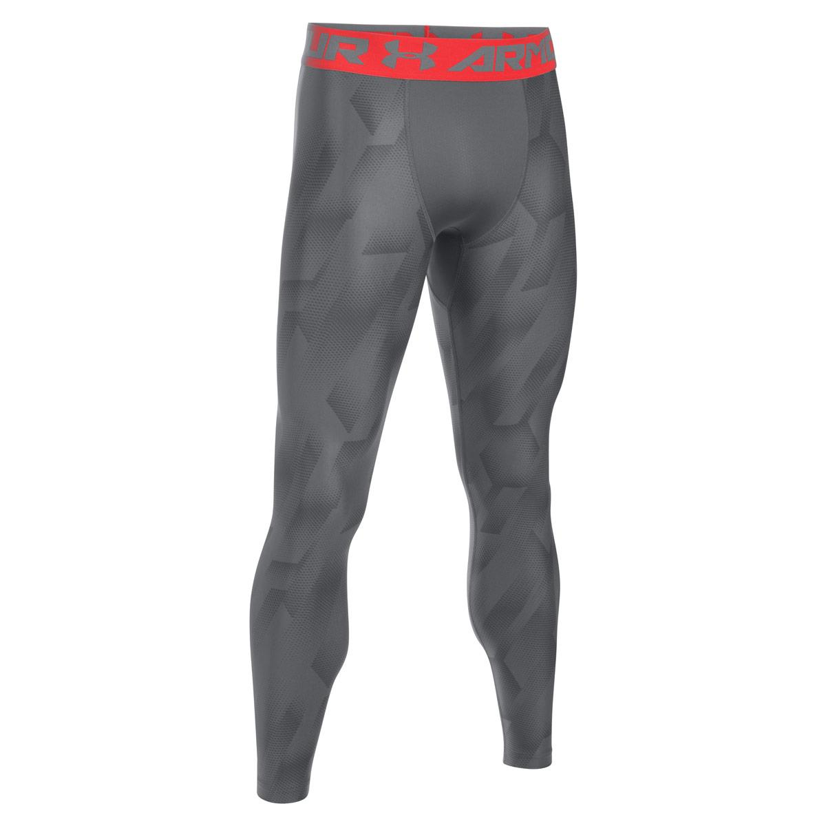 0d041699764004 Under Armour Heatgear Armour Printed Compression Leggings Grey - Front