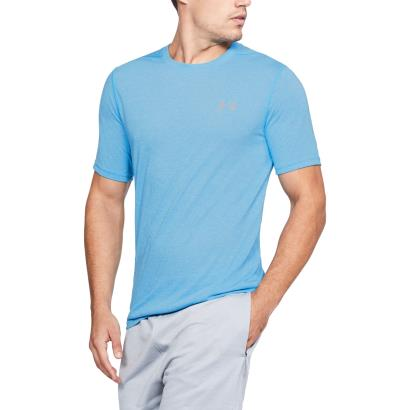 Under Armour Threadborne Fitted Tee Canoe Blue - Model 1